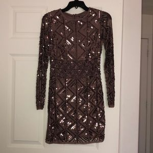 Gianni Bini Mauve Sequined Party Dress